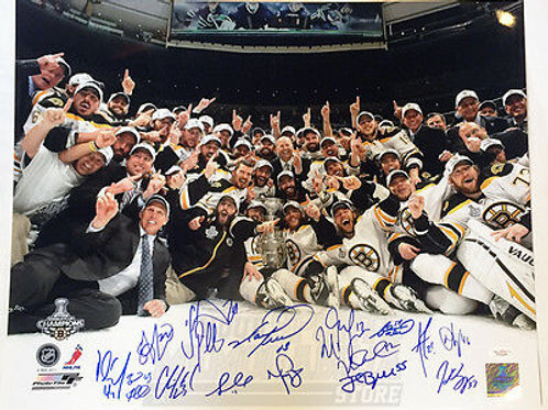Boston Bruins 2011 Stanley Cup Champions Signed Autographed 16x20 - 15 Players C