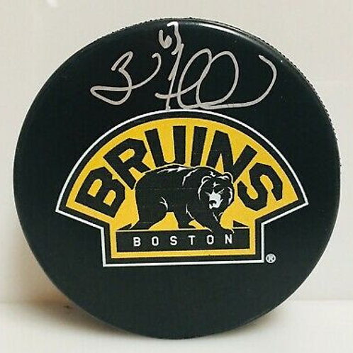 Brad Marchand Boston Bruins Signed Autographed Bruins Bear 3rd Logo Hockey Puck