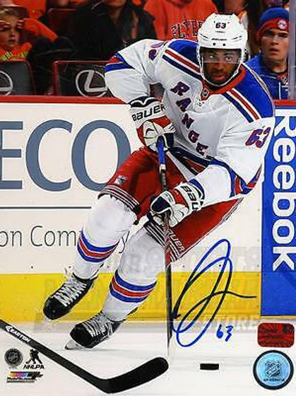 Anthony Duclair New York Rangers Signed Autographed Away Action 8x10 PF