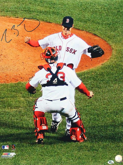 Clay Buchholz Boston Red Sox Signed Autographed No Hitter Varitek 16x20