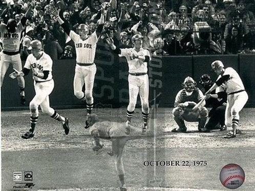 Carlton Fisk Boston Red Sox 1975 World Series Run Home  8x10 11x14 16x20  1393