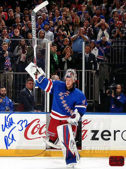 Antti Raanta New York Rangers Signed Autographed Home Win Celebration 8x10