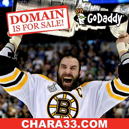 CHARA 33 .COM - Boston Bruins Zdeno Chara - Hockey NHL Domain Name - GoDaddy