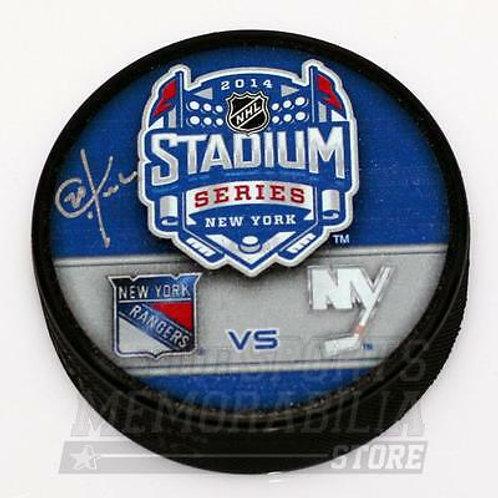 Chris Kreider New York Rangers Signed Autographed 2014 Stadium Series Duel Puck