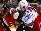 Anton Stralman New York Rangers Signed Fight vs Carolina Hurricanes 8x10