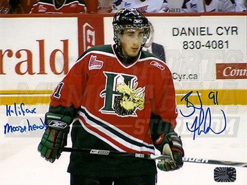 Brad Marchand Boston Bruins Signed Halifax Mooseheads Quebec Junior 8x10 - Home