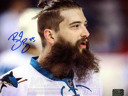 Brent Burns San Jose Sharks Signed Autographed Up Close Beard 8x10