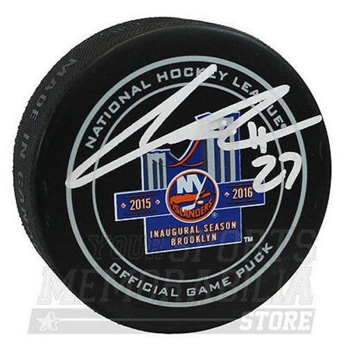 Anders Lee New York Islanders Signed Autographed Inaugural Season Game Puck