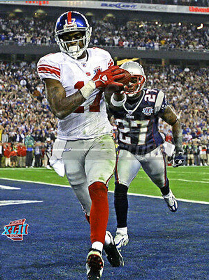 2007 Super Bowl Giants Plaxico Burress touchdown 8x10 11x14 16x20  photo 333