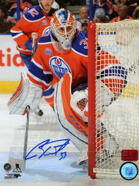 Cam Talbot Edmonton Oilers Signed Autographed Action Rexall Place 8x10 PF
