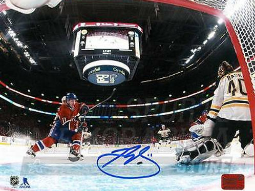 Brendan Gallagher Montreal Canadiens Signed Autographed Net Cam 16x20 Rask