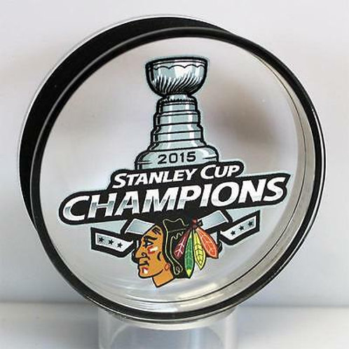 Chicago Blackhawks 2015 Stanley Cup Champions Acrylic Puck