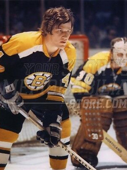 Bobby Orr Boston Bruins w/ Gerry Cheevers road jersey 8x10 11x14 16x20 2039