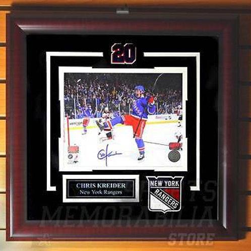 Chris Kreider New York Rangers Signed Autographed Goal Celebration 8x10 Framed