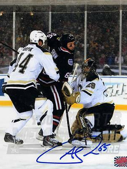 Andrew Shaw Chicago Blackhawks Signed Autographed 2014 Stadium Series 8x10