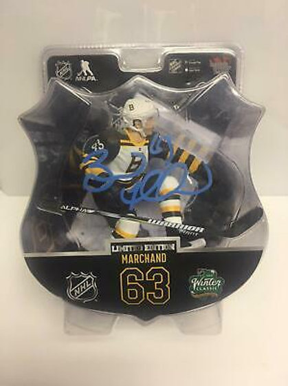 Brad Marchand Boston Bruins Signed 2019 Winter Classic Import Dragons LE Figure