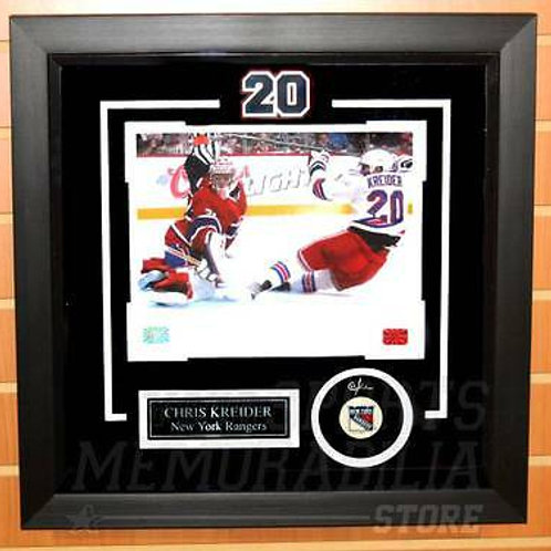 Chris Kreider New York Rangers Signed Autographed with Carey Price Framed 8x10