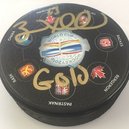 Brad Marchand Boston Bruins Signed Inscribed Bruins  World Cup of Hockey GOLD