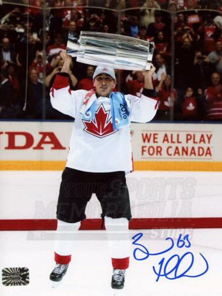 Brad Marchand Boston Bruins Signed Autographed Canada Raising World Cup 8x10