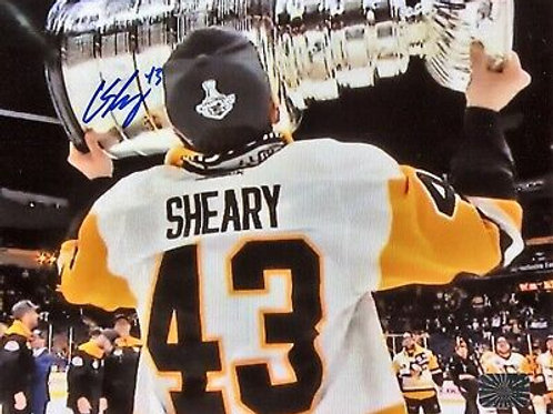 Conor Sheary Pittsburgh Penguins Signed Autographed Kissing Stanley Cup 2017 ...