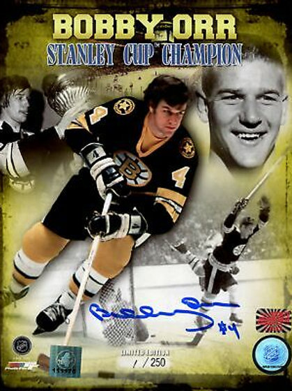 Bobby Orr Boston Bruins Signed Autographed LE #1/250 Stanley Cup Champion 8x10
