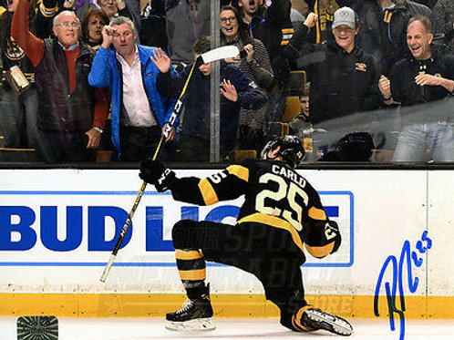 Brandon Carlo Boston Bruins Signed Autographed Goal Celebration on Knee 16x20
