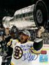 Brad Marchand Boston Bruins signed 16x20 Stanley Cup with Cup champs inscription