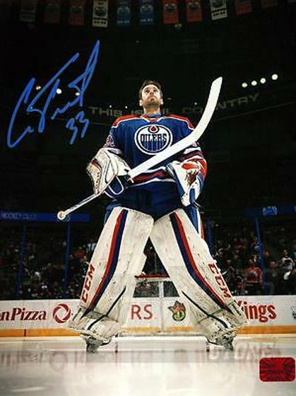 Cam Talbot Edmonton Oilers Signed Autographed Pregame Anthem 8x10 B