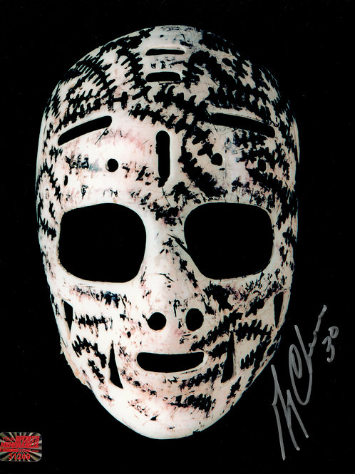 Gerry Cheevers Boston Bruins Signed Autographed Mask 8x10