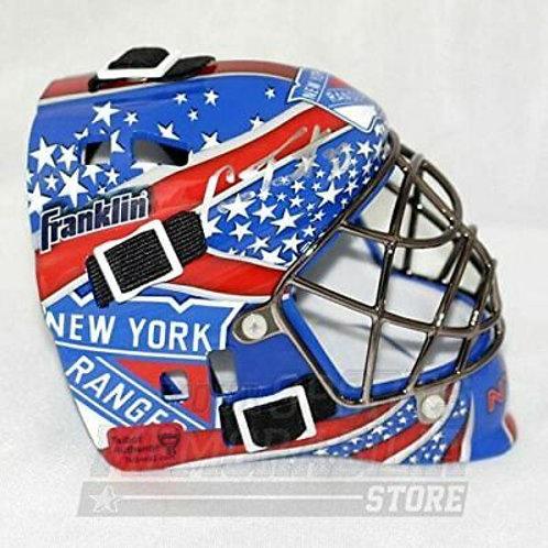 Cam Talbot Antti Raanta New York Rangers Signed Autographed Mini Goalie Mask