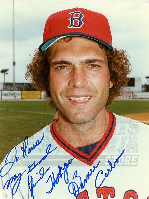 Bernie Carbo Boston Red Sox Signed Autographed Personalized 8x10