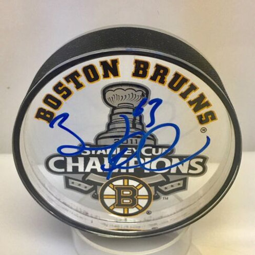 Brad Marchand Boston Bruins signed 2011 Cup Champs acrylic puck
