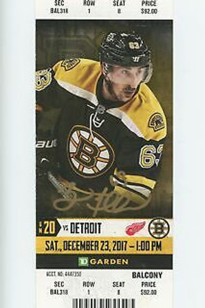 Brad Marchand Boston Bruins Signed Autographed Home Game Ticket