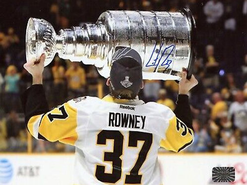 Carter Rowney Pittsburgh Penguins Signed Autographed Stanley Cup Kiss 8x10