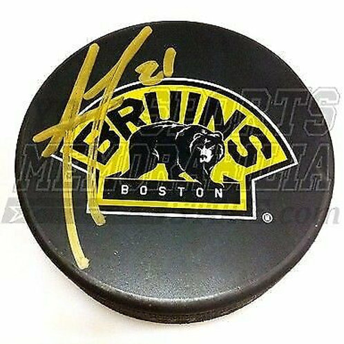 Andrew Ference Boston Bruins Signed Autographed 3rd logo hockey puck