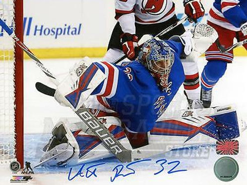 Antti Raanta New York Rangers Signed Autographed Home Goaltending Action 8x10