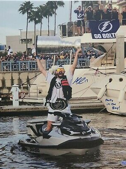 Alex Killorn Tampa Bay Lightning signed inscribed STRETCHED 20x24 Canvas