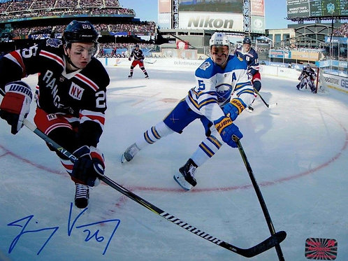 Jimmy Vesey New York Rangers Signed Autographed 2018 Winter Classic 8x10