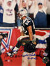 Christian Fauria New England Patriots Signed 8x10 - 1st TD at Gillette Stadium