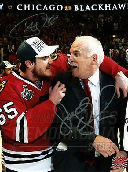 Andrew Shaw Joel Quenneville Chicago Blackhawks Signed Autographed 8x10