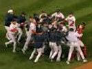 07 World Series Red Sox on field team celebration  11x14 16x20 photo 218