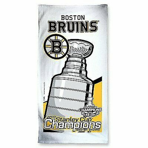 Boston Bruins Stanley Cup Champions White Beach Towel