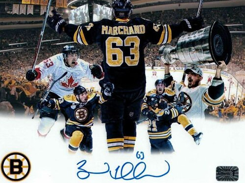 Brad Marchand Boston Bruins Signed Autographed Montage 8x10