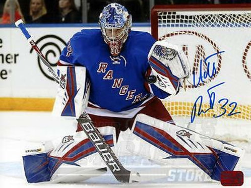 Antti Raanta New York Rangers Signed Autographed Home Goaltending Action 8x10 B
