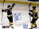 Brad Marchand and Dennis Seidenberg Boston Bruins Stanley Cup Signed 8x10