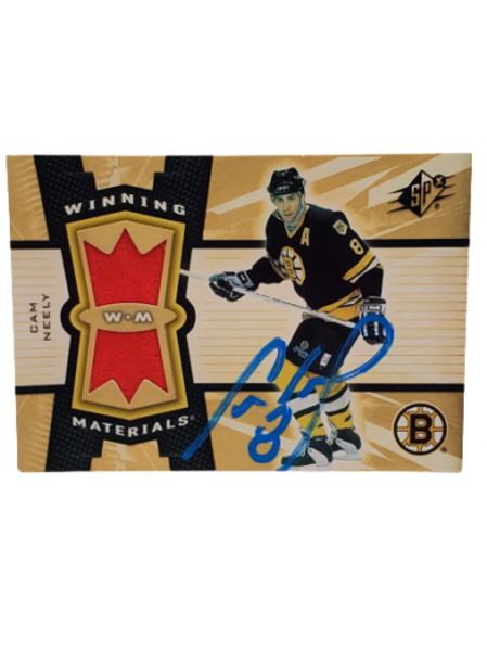 Cam Neely Boston Bruins signed sPX Winning Materials Game Used patch card