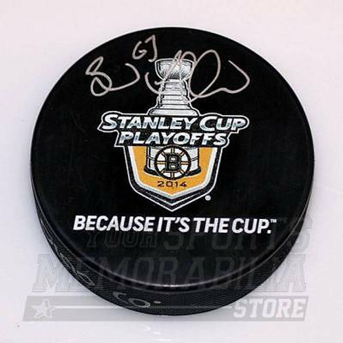 Brad Marchand Boston Bruins Signed Autographe?d Because It's The Cup Hockey Puck