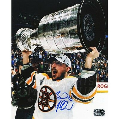 Brad Marchand Boston Bruins Signed Autographed 2011 Raising Stanley Cup 16x20