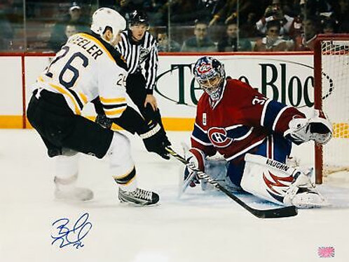 Blake Wheeler Boston Bruins Jets Signed Autographed Shot on Carey Price 16x20