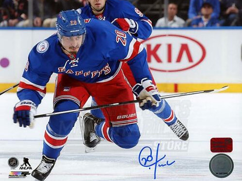 Chris Kreider New York Rangers Signed Autographed Skating Home Action 8x10